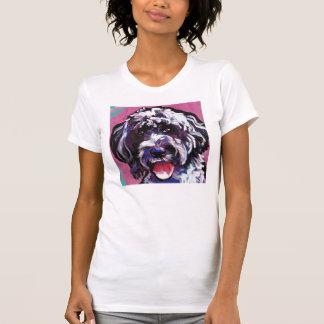 Camiseta arte portuguesa do cão do pop do cão de água do