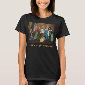 Camiseta Arte Praying da igreja da avó do afro-americano