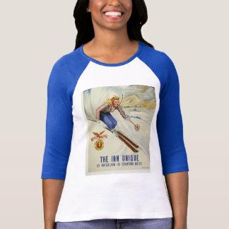 Camiseta Arte retro do esqui