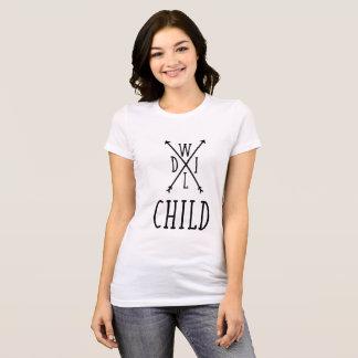 Camiseta Arte selvagem da palavra do preto da criança