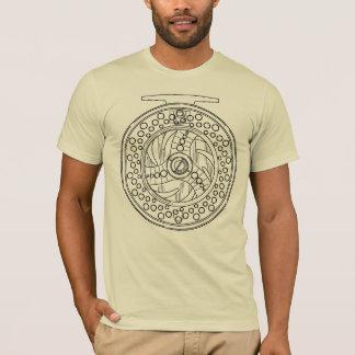 Camiseta Arte simples de um carretel da pesca com mosca