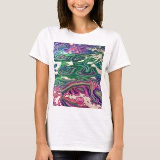Camiseta Arte topográfica II do lenço de papel