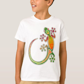Camiseta Arte tribal floral do geco