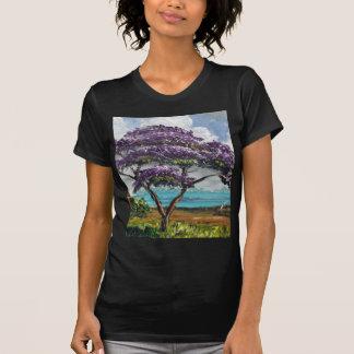 Camiseta Arte tropical da árvore do Jacaranda