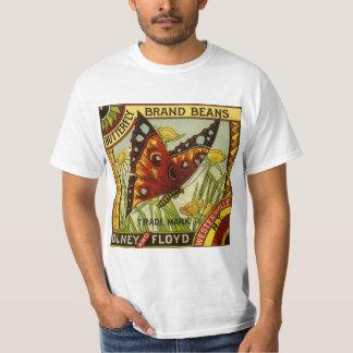 Camiseta Arte vegetal da etiqueta do vintage, feijões da