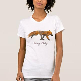 Camiseta Arte Wearable vermelha selvagem do Fox