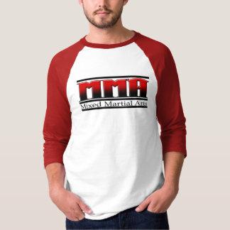 Camiseta Artes marciais misturadas preto & vermelho do