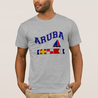 Camiseta Aruba (soletração marítima da bandeira)