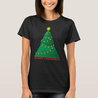 Camiseta Árvore artística do Feliz Natal
