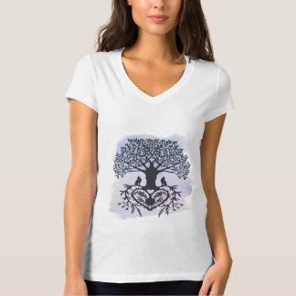 Camiseta Árvore da arte popular de vida