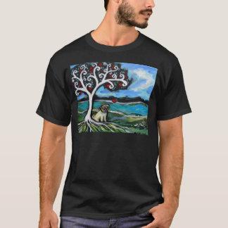 Camiseta Árvore de amor do Pug de vida