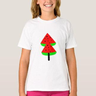 Camiseta árvore de fruta da melancia