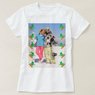 Camiseta Árvore de Natal da snowboarding