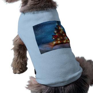 Camiseta Árvore de Natal - decorações do Natal - flocos de