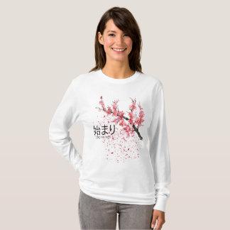 Camiseta Árvore de Sakura dos começos