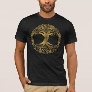 Camiseta Árvore de vida dourada