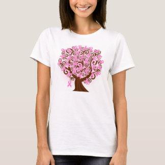 Camiseta Árvore do cancro da mama de Hanes da esperança