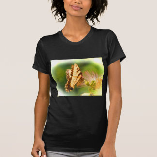 Camiseta árvore do mimosa da borboleta