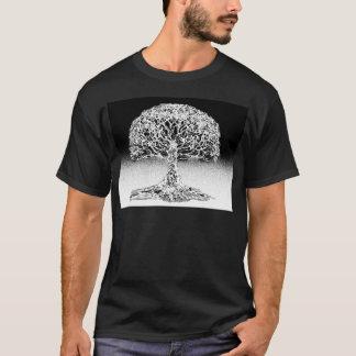 Camiseta Árvore do recife de corais da vida preto e branco