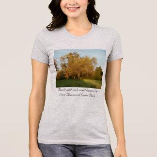 Camiseta Árvore dourada do parque de Thousand Oaks da queda