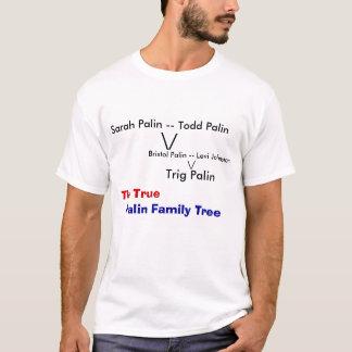 Camiseta Árvore genealógica verdadeira de Palin
