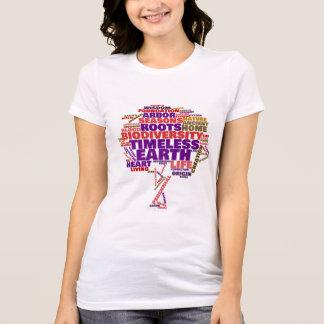 Camiseta Árvore inspirada da nuvem do Tag da vida