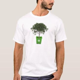 Camiseta Árvore no reciclagem