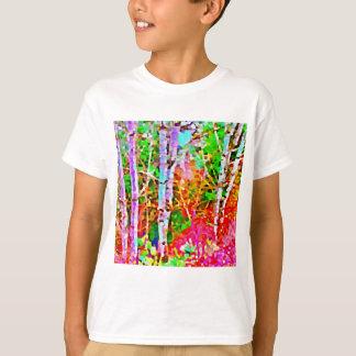 Camiseta Árvores de vidoeiro na primavera