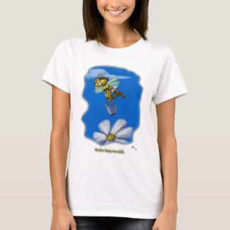 Camiseta As abelhas de trabalhador são meninas