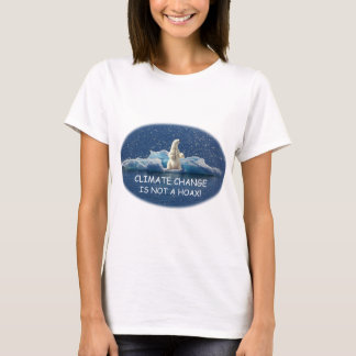 Camiseta AS ALTERAÇÕES CLIMÁTICAS NÃO SÃO um urso polar do