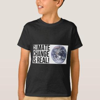 Camiseta As alterações climáticas são reais! Mundo da terra