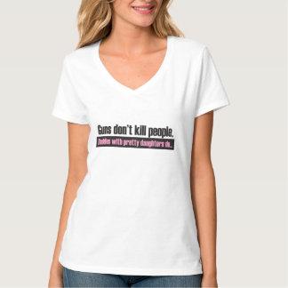 Camiseta As armas não matam; Os pais com filhas bonito