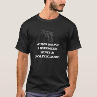 Camiseta As armas têm 2 inimigos: Oxidação & políticos!