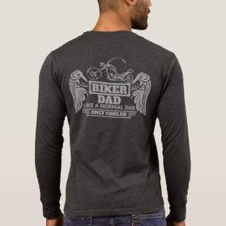 Camiseta As asas do pai do motociclista gostam de um pai