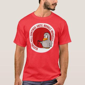 Camiseta As batidas continuarão até que a moral melhore