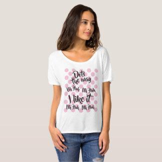 Camiseta As bolinhas que é a maneira mim gostam d t-shirt