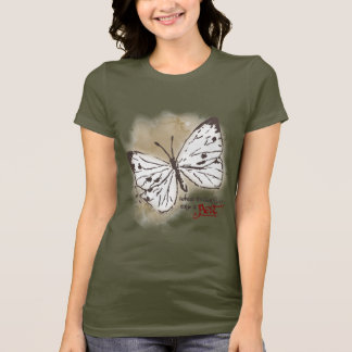 Camiseta As borboletas brancas são uma praga
