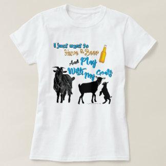 Camiseta As CABRAS | querem ter uma cerveja & um jogo com