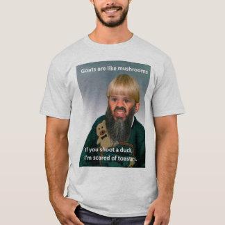 """Camiseta As """"cabras são como cogumelos…"""" T-shirt"""