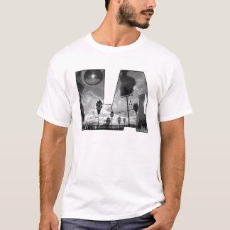 Camiseta as caras L.A. estão queimando o graff subterrâneo