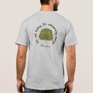 Camiseta As cinzas T dos homens de conservação da energia