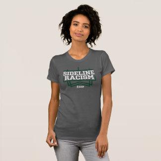 Camiseta As cinzas/verde das mulheres do t-shirt do racismo