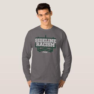 Camiseta As cinzas/verde dos homens do t-shirt do racismo