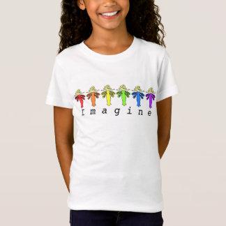 Camiseta As cores feericamente do arco-íris da libélula