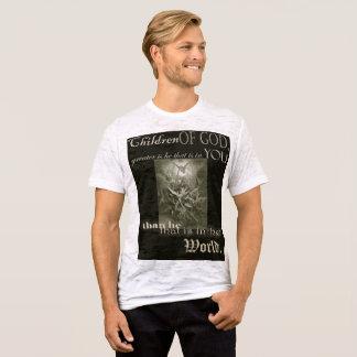 Camiseta As crianças de caras do deus afligiram o t-shirt