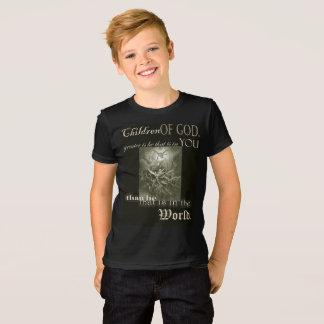 Camiseta As crianças do deus caçoam o t-shirt fino do