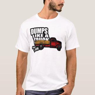 Camiseta As descargas gostam de um caminhão