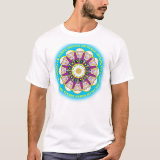 Camiseta As doze caras de Babaji com mantra