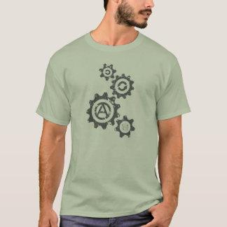 Camiseta As engrenagens estão girando para C4SS (afligido)