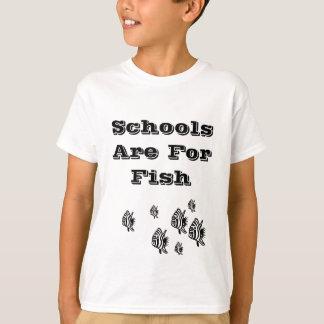 Camiseta As escolas são para peixes